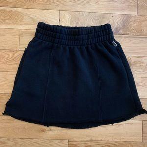 GOOD AMERICAN high waste sweat skirt